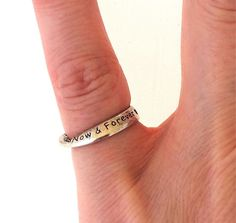 .925 Sterling Silver Friendship Pinky Child's Motto Ring Best Friends 2.5 #Unbranded