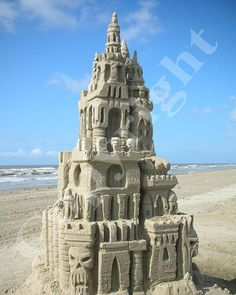 Sand sculpture, Galveston-TX Saw the sandcastle competition when Jana and Ben lived n Galveston