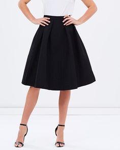 Illaria Brocade A-Line Skirt