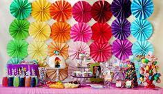 {Ideas & Inspiration} Somewhere Over The Rainbow! | Whimsically Detailed Festa Do My Little Pony, My Little Pony Birthday Party, 4th Birthday Parties, Birthday Party Decorations, Rainbow Decorations, Girl Birthday, Birthday Ideas, Festa Rainbow Dash, Rainbow Dash Birthday