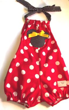 Baby girl's ruffle bottom Minnie Mouse halter by NonniesHeart, $24.00