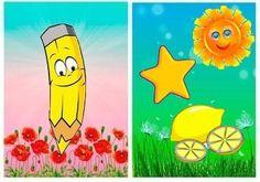 vytlačiť, laminovať ,prestrihnúť a dať zhora do hrebeňovej väzby / kalendár/ - priraďovanie farby After School, School Fun, Color Games, Pikachu, Sorting, Fictional Characters, Yellow, Activities, Colors