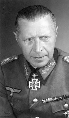 Helmuth Otto Ludwig Weidling (1891 – 1955) was a general in the German Army (Wehrmacht Heer) before and during WW II. Weidling was the last commander of the Berlin Defence Area during the Battle of Berlin, and led the defence of the city against Soviet forces, finally surrendering just before the end of WW II in Europe. During his military career, he was awarded the Knight's Cross of the Iron Cross with Oak Leaves and Swords.