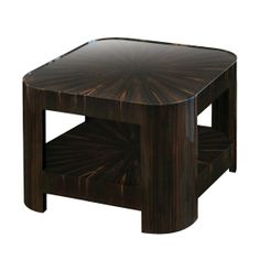 """Buy """"Two-Tiered Night Star End Table"""" in Macassar Ebony - End Tables - Tables - Furniture - Dering Hall"""
