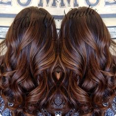 gorgeous brunette hair with caramel highlights ~ we ❤ this! moncheriprom.com