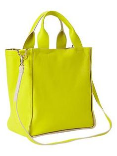 Colorblock leather bag | Gap -  chartreuse