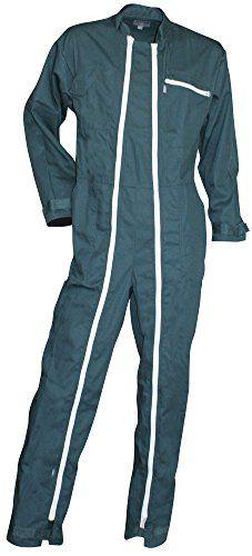 LMA - Combinaison de travail Homme, 2 zips, Fusible - Coloris Vert US - Taille 3