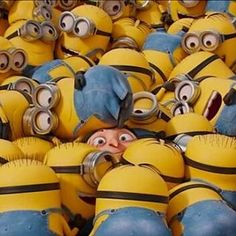 Sea Of minions Minion Rush, Happy Minions, Minion 2, Minion Mayhem, Cute Minions, Minions Despicable Me, Minions 2014, Warm Fuzzies, Minions Quotes