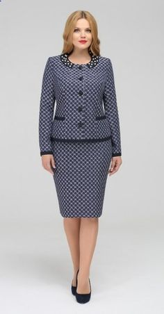 The suit (jacket, skirt) - order and purchase delivery in «LMARKA Work Fashion, Modest Fashion, Fashion Dresses, Fashion Design, Dress Suits, I Dress, Clothing Patterns, Dress Patterns, Suits For Women