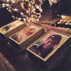 These were Harry's birthday cakes, I just collapsed.