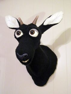 Antelope faux taxidermy by Ed Tucciarone.  Original sculpt with hand-sewn plush felt skin.  No animals harmed in the making of this sculpture.  Contact the artist at https://www.facebook.com/ed.tucciarone
