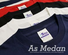Distributor Kaos Polos Premium Cotton Stitch Supply | As Medan.