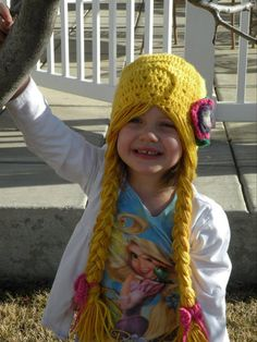 Original Rapunzel Character Hat with Long Braids - Looks easy enough