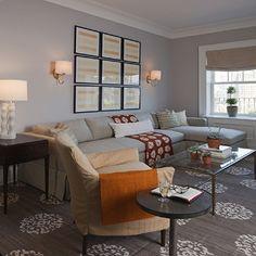 Madeline Weinrib Mandala Rug, Transitional, living room, Lauren Stern Design