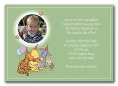 Little Pooh - Disney Invitations by Invitation Consultants. (Item # CC-KGP99FO-73 )