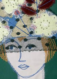 'Celebration' embroidery by Constance Howard Free Machine Embroidery, Embroidery Applique, Embroidery Patterns, Textile Fiber Art, Textile Artists, Collage, Stitch Witchery, Creative Textiles, Fabric Art