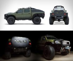 Ebay have listed a one of a kind vehicle, a chance to own the ultimate adventure truck. This is a one-off, purpose built vehicle designed to travel the severe winter weather of Antarctica and set a land speed record to the South Pole. more details and photos at blessthisstuff.co Toyota Tacoma, Toyota 4x4, Toyota Trucks, Toyota Hilux, Lifted Trucks, Pickup Trucks, Carros Off Road, Automobile, Tacoma Truck