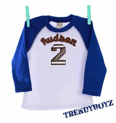 1st 2nd Birthday Boy Football Number Name by TrendyGirlzCouture, $32.00