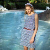 PATRON FRANCAIS / Une robe en tissu motif vagues - Marie Claire Idées