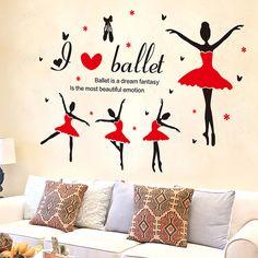 Piros tütüs balerinák falmatrica  #csajos #balett #balerína #gyerekszobafalmatrica #falmatrica #gyerekszobadekoráció #gyerekszoba #matrica #faldekoráció #dekoráció Dream Fantasy, Lany, Most Beautiful, Home Decor, Decoration Home, Room Decor, Home Interior Design, Home Decoration, Interior Design
