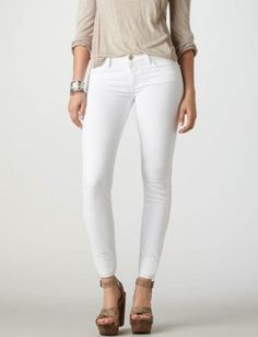 American Eagle White Jeggings, $44.95 : Five Tips for Finding the Perfect White Jeans : Lucky Magazine