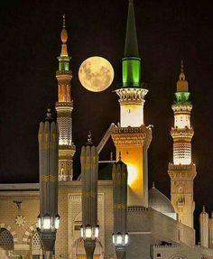 Madinah and the moon.