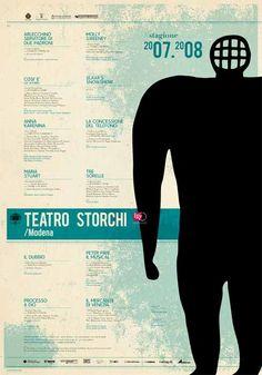 Un'immagine di Guido #Scarabottolo  per il manifesto della Stagione 2007-08 del #Teatro #Storchi di #Modena