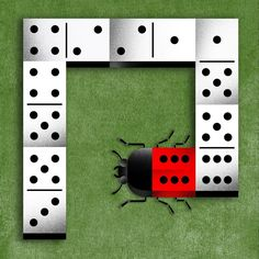 It's a match ! #mariacorte #illustration #domino #ladybug