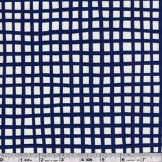 Lotta Jansdotter continues to draw inspiration from nature with Glimma. Olavi is an irregular grid that provides a graphic counterpoint to the softer prints. This quilting weight fabric is 100�0cotton and is 44/45