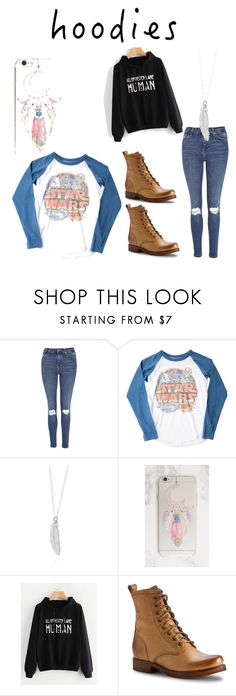 """""""I dont wanna"""" by warfstacheaw ❤ liked on Polyvore featuring Topshop, Junk Food Clothing, Frye and Hoodies"""