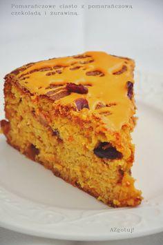 AZgotuj!: Ciasto pomarańczowe z żurawiną. Hit na święta