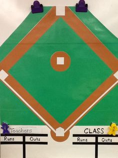 Great whole class behavior management game: teacher gets points when students are loud or off task. Teacher gets outs/students get points when they are doing really well.