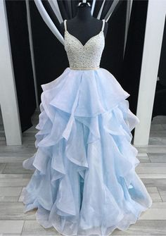 Ruffle prom dress - Newest Spaghetti Straps Ball Gown Beading Champagne Princess Prom Dresses Quinceanera Dresses – Ruffle prom dress Pretty Prom Dresses, Princess Prom Dresses, Straps Prom Dresses, Prom Dresses For Teens, Prom Dresses 2018, Beaded Prom Dress, Backless Prom Dresses, Quinceanera Dresses, Dance Dresses