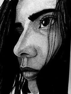 (Retrato de Elis) Elis's Portrait - https://www.pinterest.com/willbarcellos9/minha-arte/