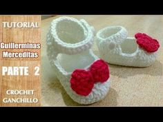 getlinkyoutube.com-DIY Como tejer escarpines, merceditas, guillerminas a crochet, ganchillo (parte 2/2)