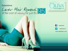 Do you avoid parties and office get-togethers because you have to visit the salon every time for removing unwanted hair? Put a stop to visit to salons with permanent and pain-free #laserhairremoval @OlivaClinics.