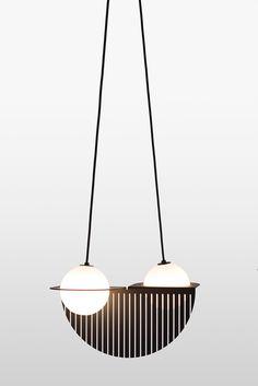 Laurent Lighting from Lambert & Fils - Design Milk Diy Pendant Light, Pendant Light Fixtures, Pendant Lamp, Pendant Lighting, Interior Lighting, Modern Lighting, Lighting Design, Custom Lighting, Chandelier Design