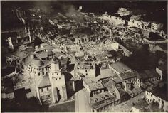 Wieluń, from church tower, just after German Luftwaffe bombing the 1st of September 1939