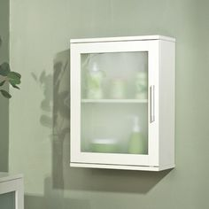 TMS Frosted Pane Wall Cabinet & Reviews | Wayfair