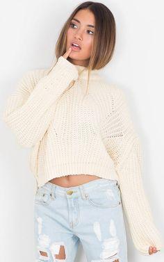 Beige Cozy Knit Oversized Sweater