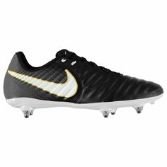 check out 6e236 6dada Kids Nike Tiempo Ligera FG C Soft Ground Black Leather Football Boots Kids  UK 10