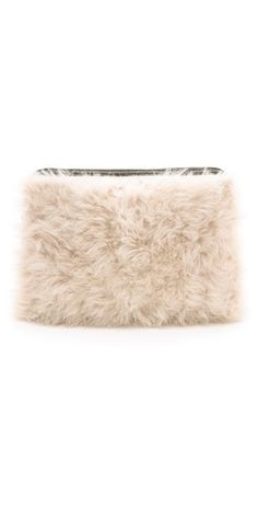 Phillip Lim Shearling Cosmetic Pouch