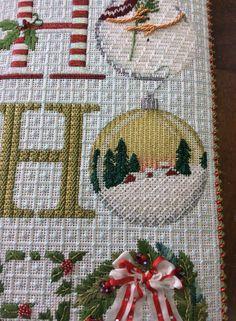 needlepoint ho-ho-ho for Christmas