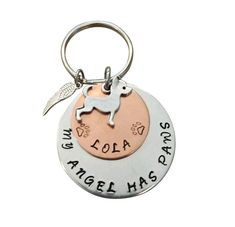 Personalized Dog Memorial Keychain, Dog Memorial Gift, Personalized Pet Memorial Gift, In Loving Memory Dog Keychain, Loss of Dog Gift Pet Memorial Jewelry, Pet Memorial Gifts, Dog Memorial, Loss Of Dog, Dog Keychain, Losing A Dog, Pet Memorials, Dog Names, Pet Gifts