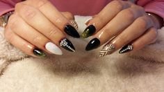Black nails  ...Nail art mix