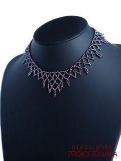 Koralikowa siatka, naszyjnik w klimacie lekko wiktoriańskim :)   #beading #necklace #victorian #gothic #jewelry