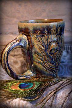 Peacock Mug - Cool!  Thanks, @Diane Haan Lohmeyer Haan Lohmeyer Z Spivey