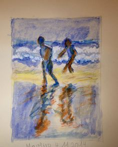 Marlies - Sommer am Meer - Aquarell