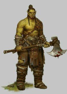 m Half Orc Barbarian Battle Axe midlvl