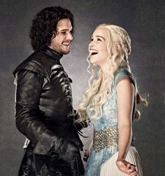 My 2 favourite characters in game of thrones, i fell in love with john snow and his heroics last night! (Daenerys John Snow)